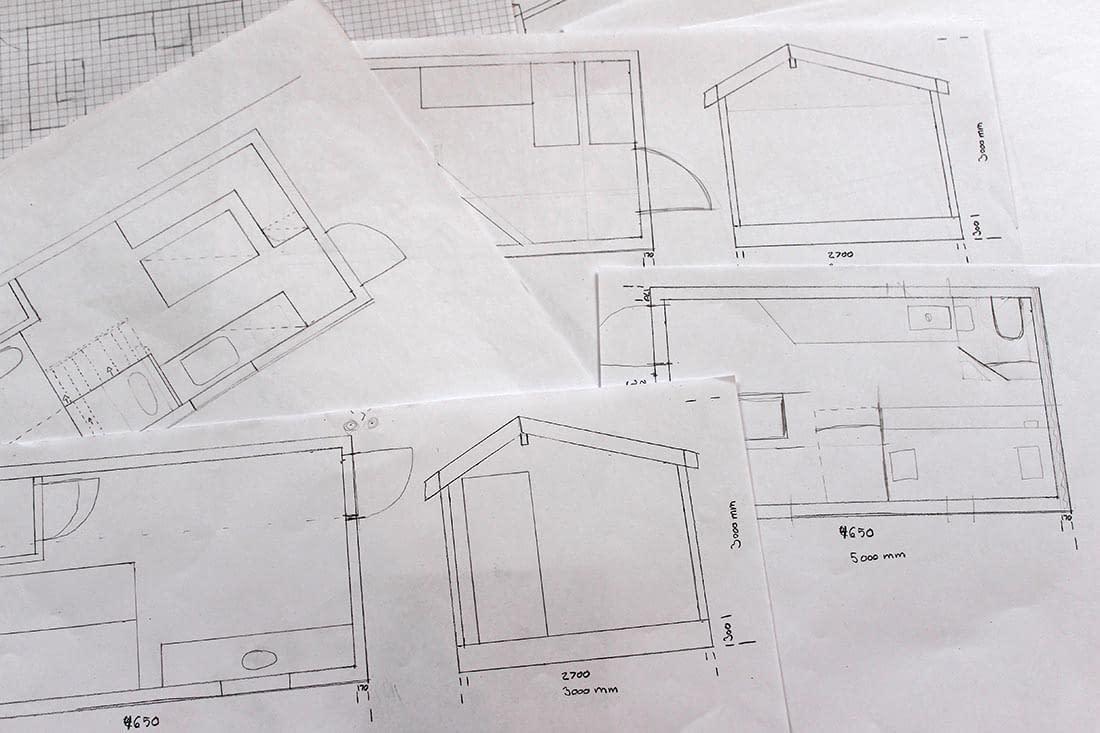 minihus-konstruksjon-tegning